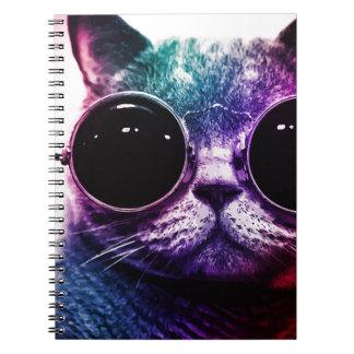 ヒップスター猫のポップアート ノートブック