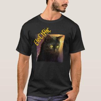 """ヒップスター""""電気""""猫のワイシャツ Tシャツ"""