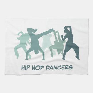 ヒップホップのダンサーの絵 キッチンタオル