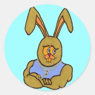 ヒップホップのバニーウサギ ラウンドシール