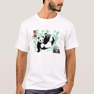 ヒップホップのパンダのダンス Tシャツ