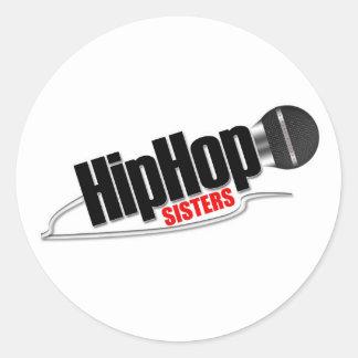 ヒップホップの姉妹の円形のステッカー ラウンドシール