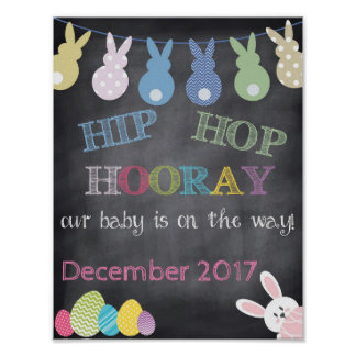 ヒップホップのHoorayイースター妊娠の発表 ポスター