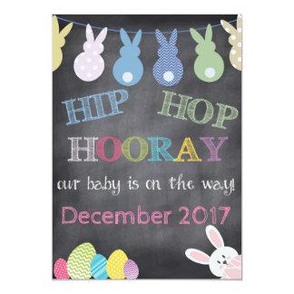 ヒップホップのHoorayイースター妊娠の発表 12.7 X 17.8 インビテーションカード