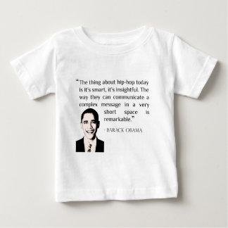 ヒップホップバラック・オバマの引用文のベビーのTシャツ ベビーTシャツ