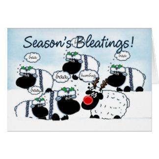 ヒツジのクリスマスカード- SeaonのBleetings グリーティングカード