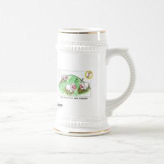 ヒツジのコーヒーステイン ビールジョッキ