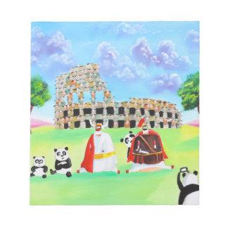 ヒツジのゴードンブルースの芸術から成っているcolosseum ノートパッド