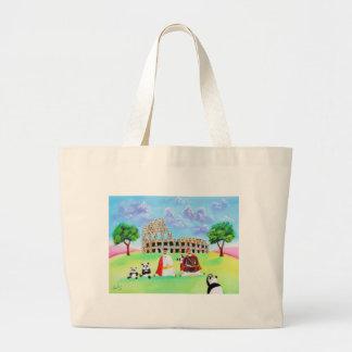 ヒツジのゴードンブルースの芸術から成っているcolosseum ラージトートバッグ