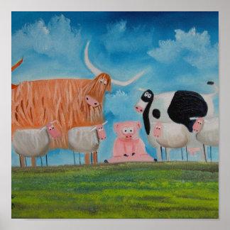 ヒツジのブタの高地牛 ポスター