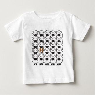 ヒツジのボーダーコリー ベビーTシャツ