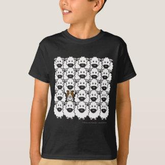 ヒツジのボーダーコリー Tシャツ