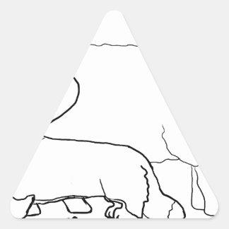 ヒツジの地位のCardi 三角形シール・ステッカー