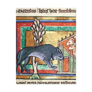 ヒツジの外のMSローイAのオオカミは折ります キャンバスプリント