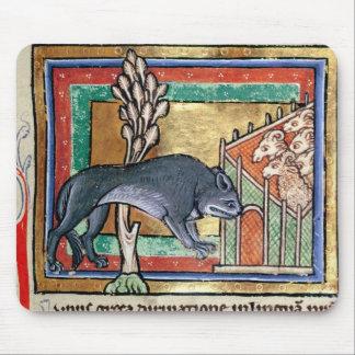ヒツジの外のMSローイAのオオカミは折ります マウスパッド