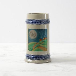 ヒツジの満月の民芸 ビールジョッキ