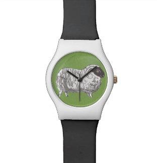 ヒツジの白黒腕時計 腕時計