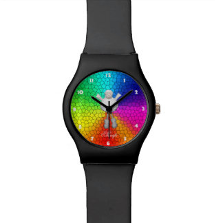 ヒツジの虹色 腕時計