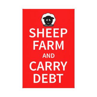 ヒツジの農場は負債を運び、 キャンバスプリント