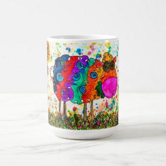 ヒツジ15のozのマグ(カスタマイズことができます) コーヒーマグカップ