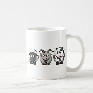 ヒツジ、ヤギおよび牛 コーヒーマグカップ
