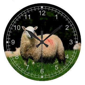 ヒツジ ラージ壁時計