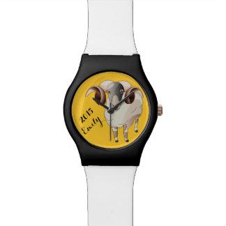 ヒツジMay28thの腕時計2015年の名前入りな年 腕時計
