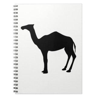 ヒトコブラクダのシルエット ノートブック