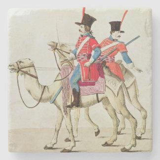 ヒトコブラクダの連隊1839年の兵士 ストーンコースター