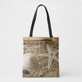 ヒトデおよび海の貝のトートバック トートバッグ