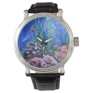 ヒトデおよび珊瑚の腕時計 腕時計