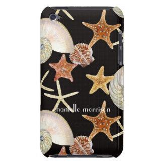 ヒトデのオウムガイの帆立貝の海の貝のモダンパターン Case-Mate iPod TOUCH ケース