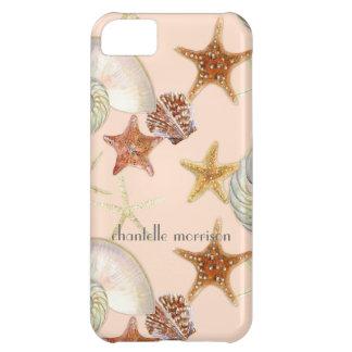 ヒトデのオウムガイの帆立貝の海の貝のモダンパターン iPhone5Cケース