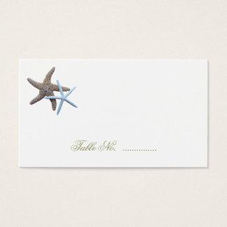 ヒトデのカップルの護衛の座席カード 名刺