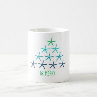 ヒトデのクリスマスツリーのマグ コーヒーマグカップ