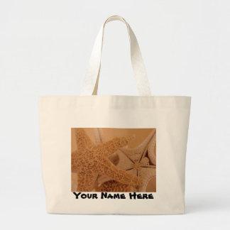 ヒトデのビーチのバッグ ラージトートバッグ
