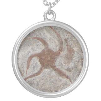 ヒトデの化石のネックレス シルバープレートネックレス