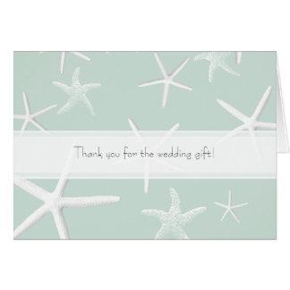 ヒトデの情熱のカスタムな結婚式はノート感謝していしています ノートカード