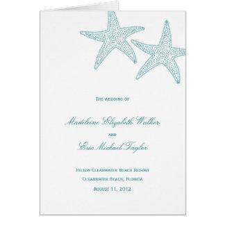 ヒトデの結婚式プログラムプログラム・カード グリーティングカード