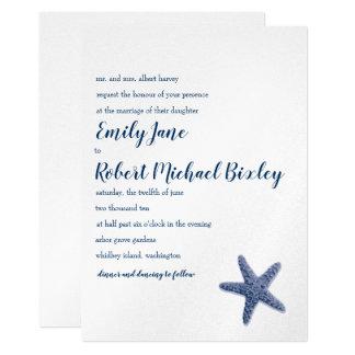 ヒトデの結婚式招待状 カード