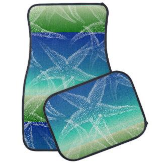 ヒトデの青緑の海のカーマット カーマット