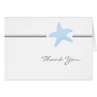 ヒトデは感謝していしています ノートカード