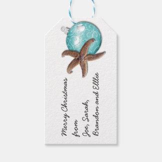 ヒトデは熱帯クリスマスのギフトのラベルを飾ります ギフトタグ