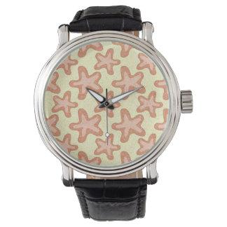 ヒトデは、航海のな海洋生物模造します 腕時計