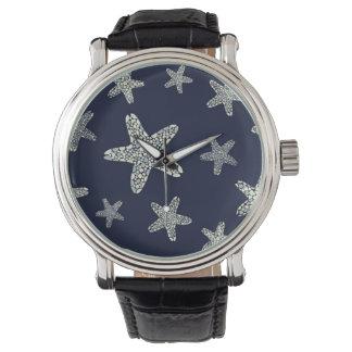 ヒトデパターンの海 腕時計