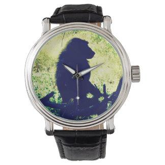 ヒヒのシルエット 腕時計