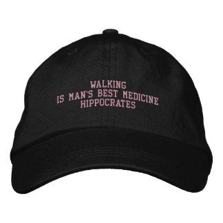 ヒポクラテスの引用文-帽子 刺繍入りキャップ