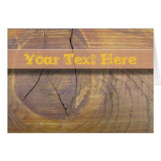 ヒマラヤスギの木製の結び目の写真 カード