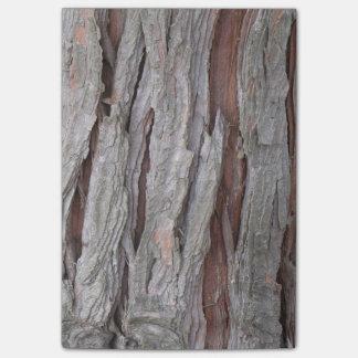 ヒマラヤスギの樹皮の質 ポストイット