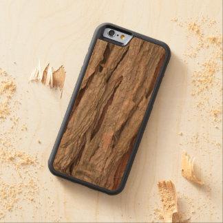 ヒマラヤスギの樹皮の質 CarvedチェリーiPhone 6バンパーケース